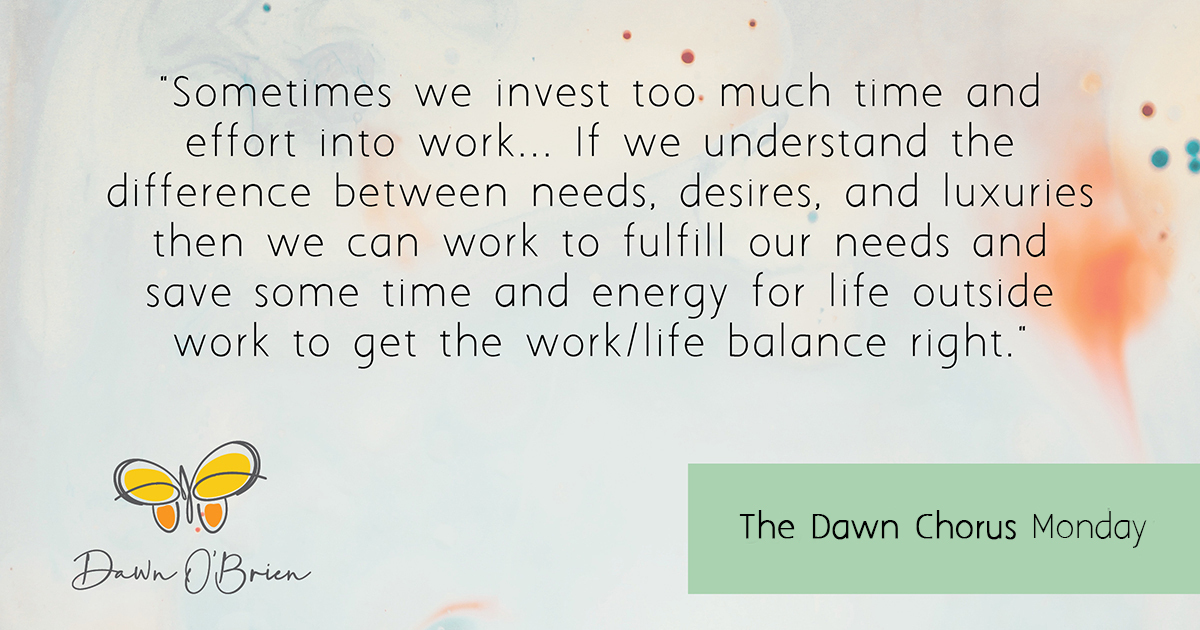 Get the work/life balance right